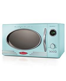 RMO4AQ Retro 0.9 Cubic Foot 800-Watt Countertop Microwave Oven, Aqua