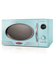 Nostalgia Retro 0.9 Cubic Foot Microwave Oven, Aqua