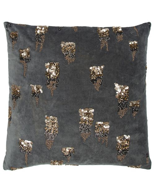 """Rizzy Home Donny Osmond 20"""" x 20"""" Abstract Design Pillow Poly Filled"""