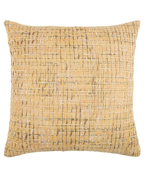 """Rizzy Home 22"""" x 22"""" Heathered Poly Filled Pillow"""