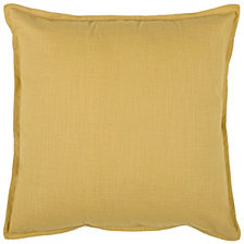 "Rizzy Home Solid 20"" x 20"" Poly Filled Pillow"