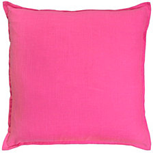 "Rizzy Home Solid Pink 20 "" X 20"" Poly Filled Pillow"