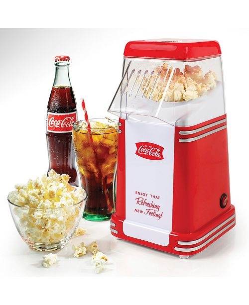 Nostalgia Coca-Cola 8-Cup Hot Air Popcorn Maker