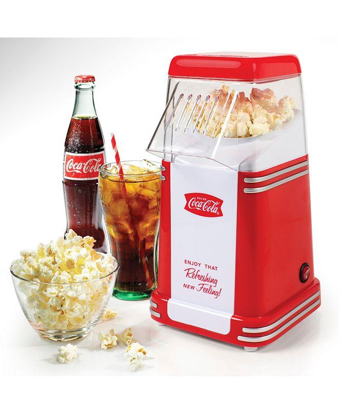 Nostalgia Coca-Cola 8-Cup Hot Air Popcorn Maker