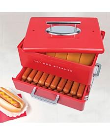 Nostalgia Large Diner Style Hot Dog Steamer
