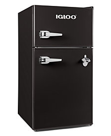 Igloo 3.2 Cu Ft Classic Double Door Black