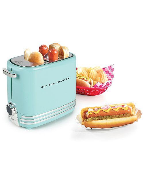 Nostalgia 2-Slot Hot Dog Toaster, Aqua
