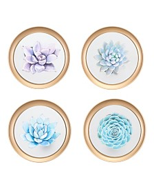 Zuo Wall Plates, Set Of 4