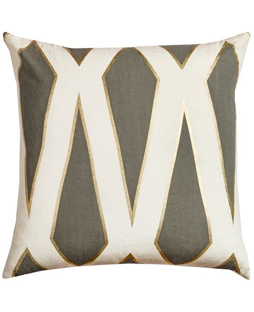 """Rizzy Home Rachel Kate 20"""" x 20"""" Geometrical Design Poly Filled Pillow"""