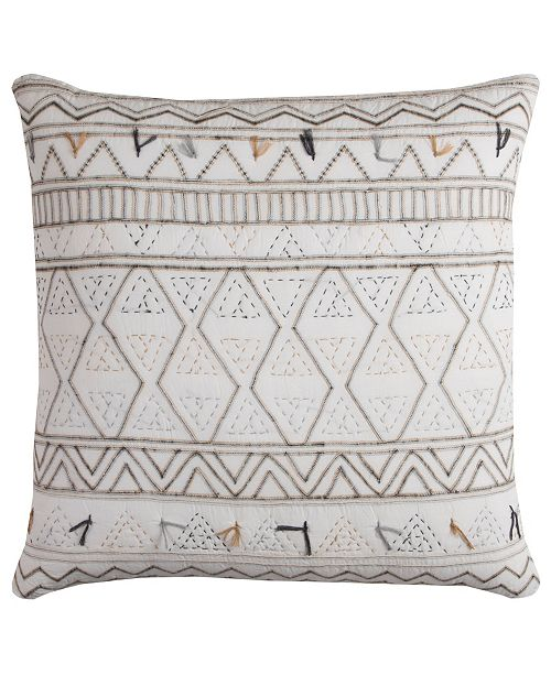 "Rizzy Home 22"" x 22"" Tribal Global Traveller Pillow Collection"