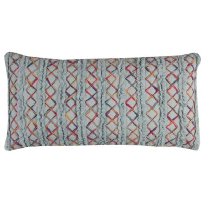 """14"""" x 26"""" Textured Stripe Poly Filled Pillow"""