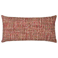 "Rizzy Home Red 14"" X 26"" Heathered Poly Filled Pillow"
