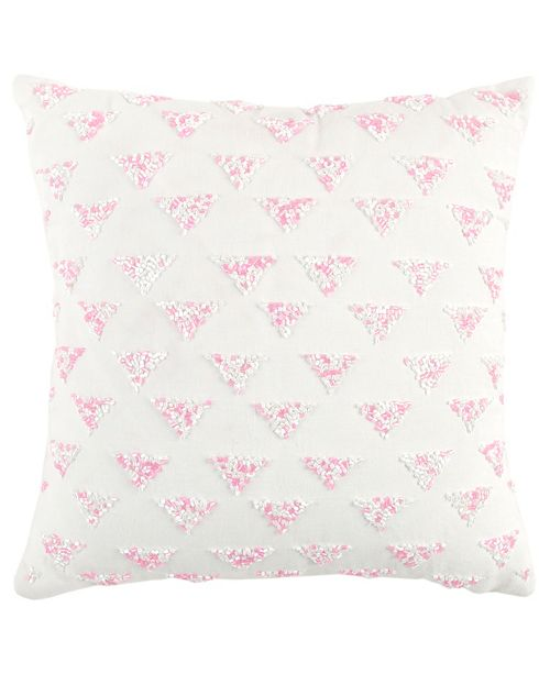 "Rizzy Home 12"" x 12"" Geometrical Design Poly Filled Pillow"