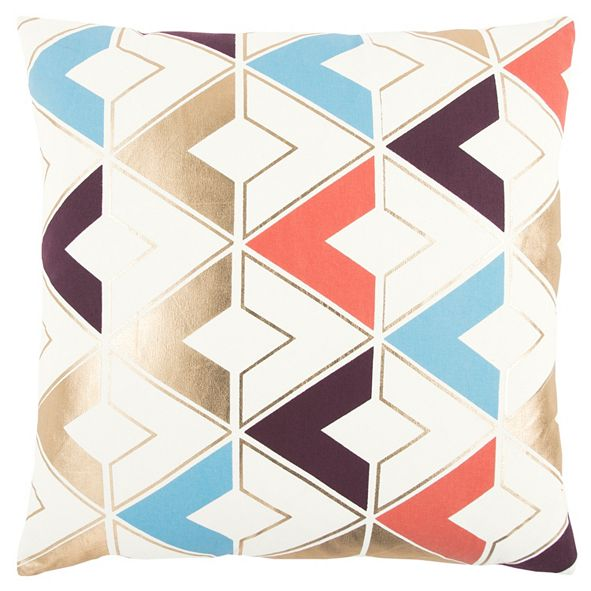 "Rizzy Home 20"" x 20"" Geometrical Design Poly Filled Pillow"