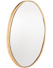Oval Gold Mirror Lg