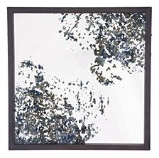 Square Mirror Antique Blue