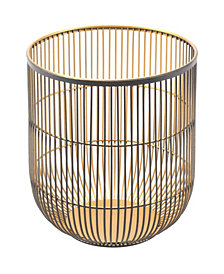 Jaula Candle Holder Md Matte Black&Gold