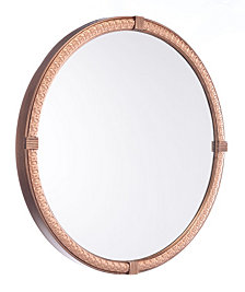 Madi Circle Mirror Brown