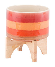 Orange Stripes Planter Md Orange