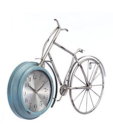 Bike Time Wall Clock Blue