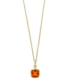 EFFY® Citrine (1 3/4 ct.t.w.) and Diamond Accent Pendant in 14k Gold