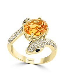 EFFY® Citrine (2-1/2 ct. t.w.) and Diamond (1/3 ct. t.w.) Ring in 14k Gold