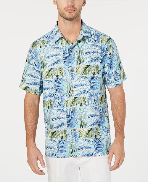 d3fadbfe7 ... Tommy Bahama Men's Big & Tall Think Outside the Fronds Hawaiian Shirt  ...