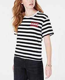 Juniors' Good Times Striped T-Shirt