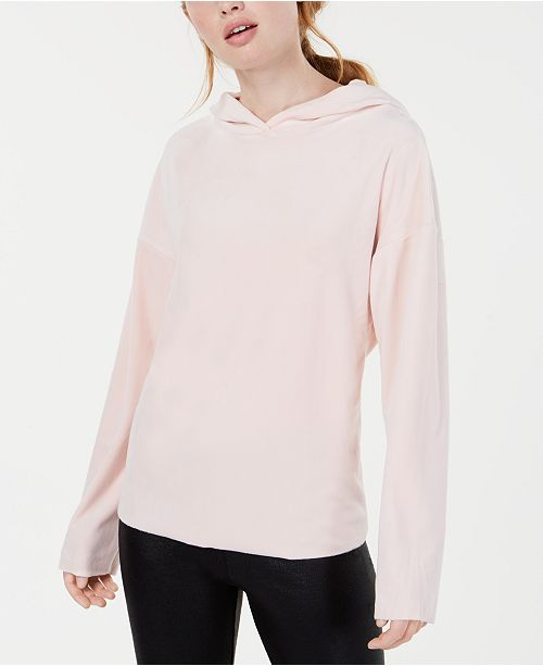 Material Girl Active Juniors' Raw-Edged Pullover Hoodie, Created for Macy's