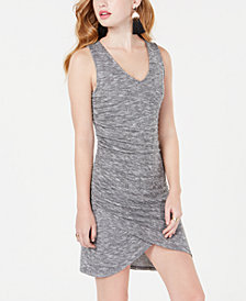 Material Girl Juniors' Ruched Rib-Knit Bodycon Dress, Created for Macy's