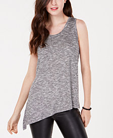 Material Girl Active Juniors' Side-Slit Marled Knit Top, Created for Macy's