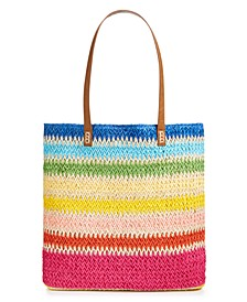 "Straw 17"" x 14.8"" Beach Tote, Created for Macy's"