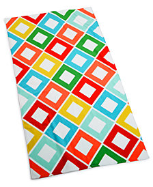 "Martha Stewart Collection Carnival Diamond 38"" x 68"" Beach Towel, Created for Macy's"