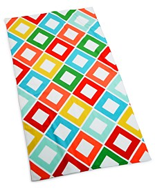 "CLOSEOUT! Martha Stewart Collection Carnival Diamond 38"" x 68"" Beach Towel, Created for Macy's"