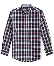 Tommy Hilfiger Adaptive Men's Plaid Shirt with Magnetic Buttons