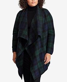 Lauren Ralph Lauren Plus Size Checked Wool Sweater