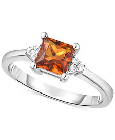 Citrine (3/4 ct. t.w.) & Diamond Accent Ring (Also Available in Amethyst)