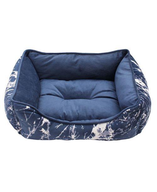 Jimco Lamp & Manufacturing Co Ellia Marble Print Micromink Cuddler Dog Bed