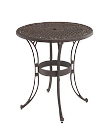 "Home Styles Biscayne 42"" Bronze Round Outdoor Dining Table"