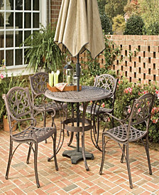 """Home Styles Biscayne Bronze 5PC Dining Set (48"""" Table)"""
