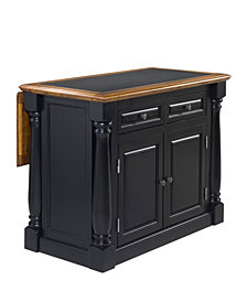 Home Styles Monarch Black and Distressed Oak Island Granite Top