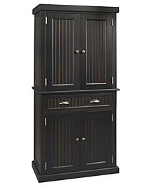 Home Styles Nantucket Pantry Black Distressed Finish