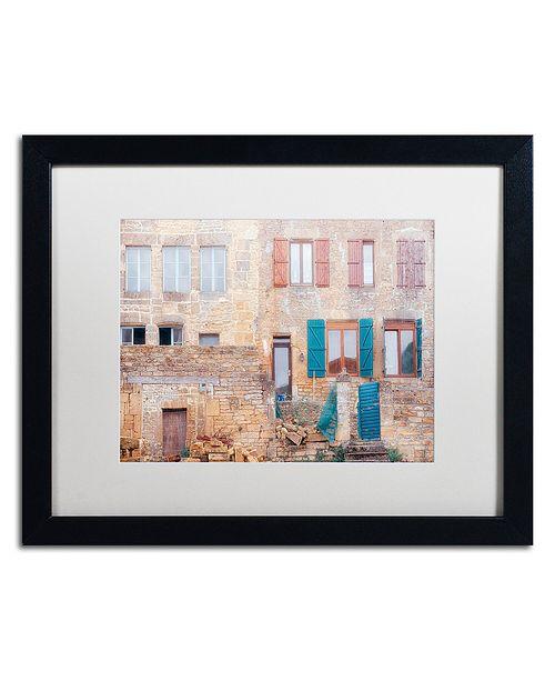 "Trademark Global Cora Niele 'Facade II' Matted Framed Art, 16"" x 20"""