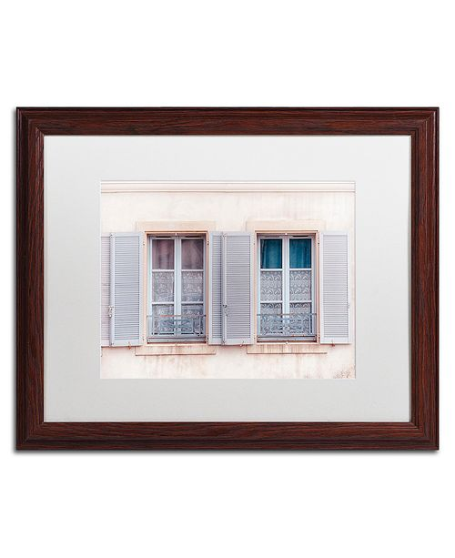 "Trademark Global Cora Niele 'French Windows II' Matted Framed Art, 16"" x 20"""