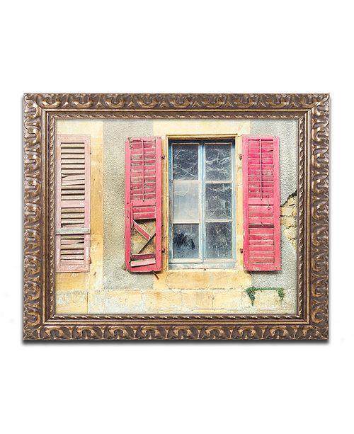 "Trademark Global Cora Niele 'Red Shutters' Ornate Framed Art, 11"" x 14"""