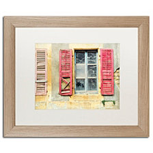 Cora Niele 'Red Shutters' Matted Framed Art