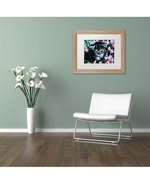 "Trademark Global Jenny Newland 'Bright Eyes' Matted Framed Art, 16"" x 20"""