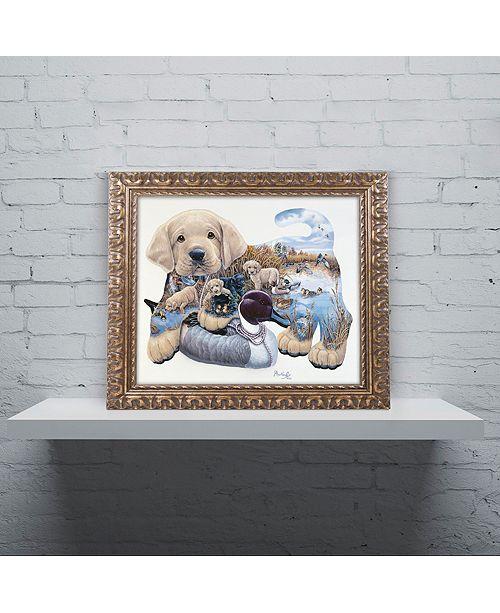 "Trademark Global Jenny Newland 'Sweet Puppy Tales' Ornate Framed Art, 11"" x 14"""