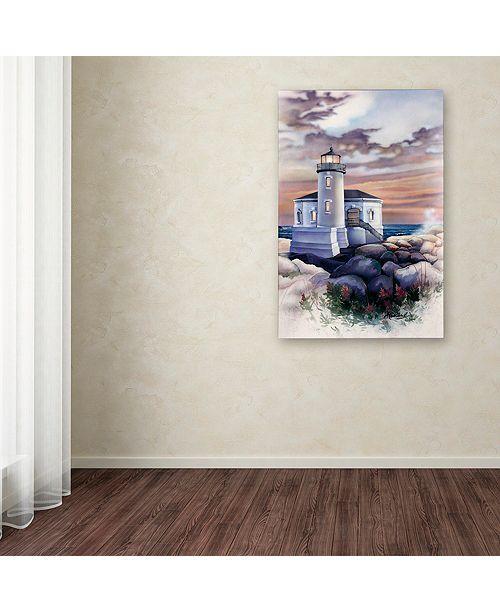 "Trademark Global Jenny Newland 'Lighthouse' Canvas Art, 22"" x 32"""
