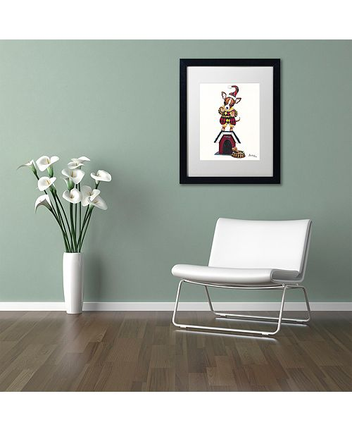 "Trademark Global Jenny Newland 'Joker 1' Matted Framed Art, 16"" x 20"""